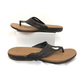 Merrill Lidia Mahogany Sandals Size 10